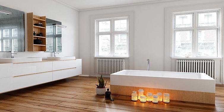 suelo laminado para baño