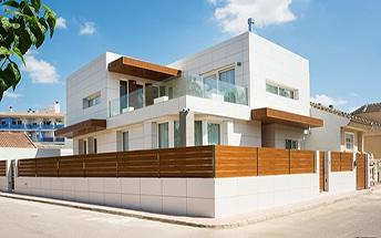 Gres porcelánico en fachadas y terrazas