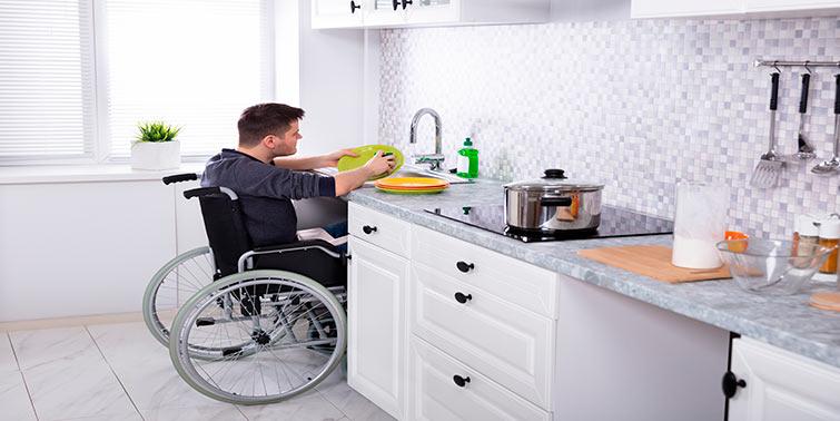 cocina adaptada a personas con movilidad reducida