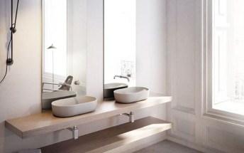 Lavabos sobre encimera, tendencia en baños