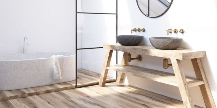 baños sin azulejos