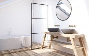 Baños sin azulejos y 10 materiales alternativos