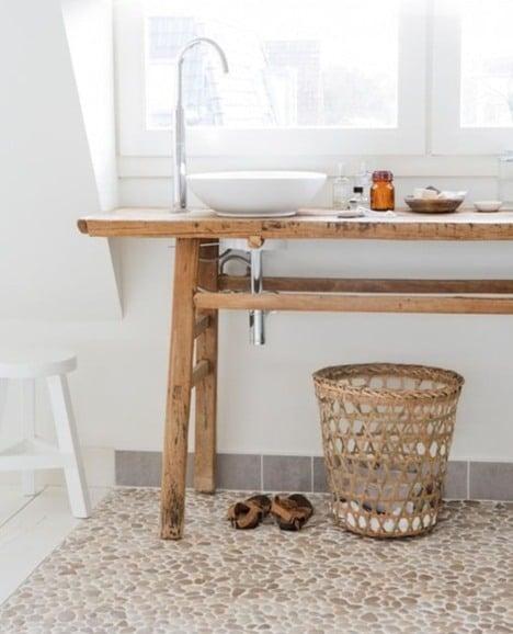 baños sin azulejos piedra