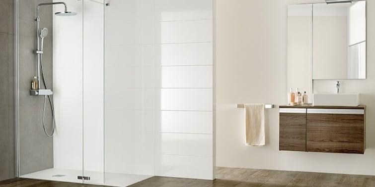 reforma de baño de gama confort mamparas