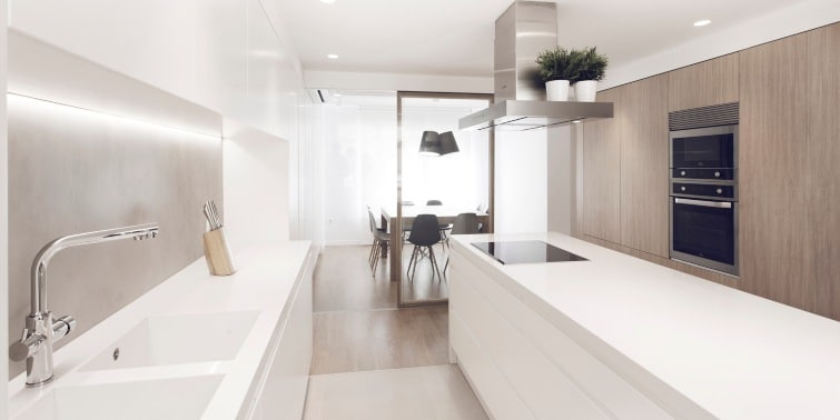 reformar un piso de 70 metros cocina
