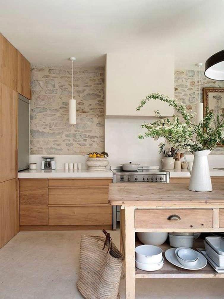 cocina con piedra natural