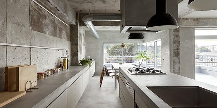 cocina de microcemento