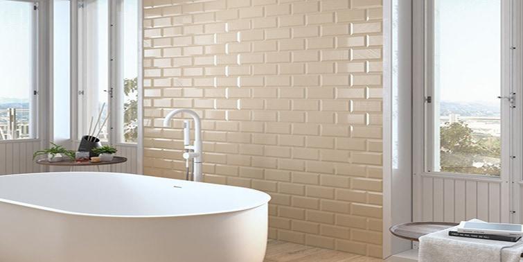 azulejos tipo metro para baño